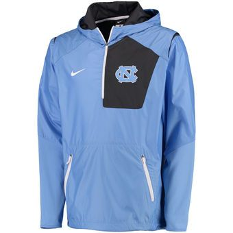 Nike North Carolina Tar Heels Carolina Blue Sideline Vapor Fly Rush Half-Zip Pullover Jacket #tarheels #unc #college