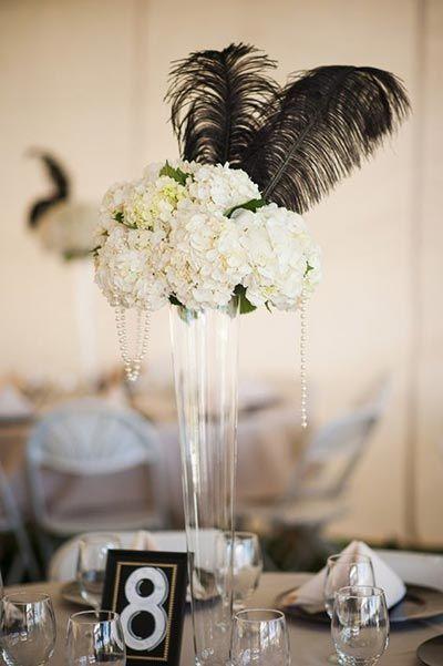 Best feather centerpieces ideas on pinterest