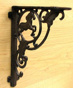 cast iron horse shelf bracket decorative shelf bracket wall shelf ideas decor