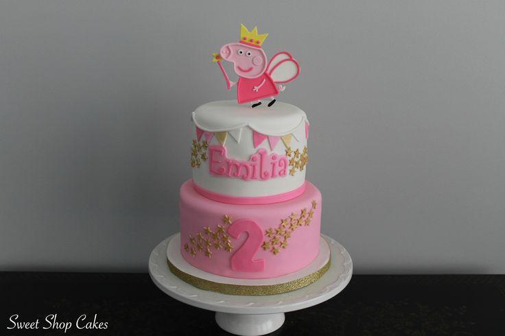 Peppa Pig fairy birthday cake