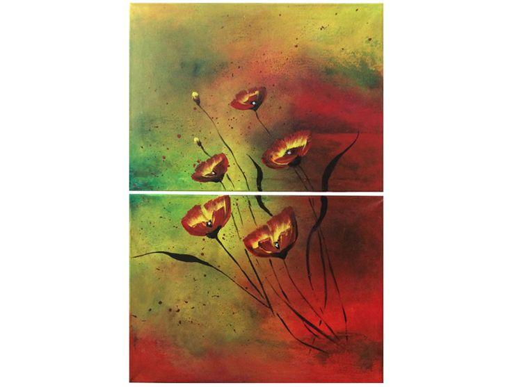 Naam: Herfst Afmetingen: 60x40 Extra informatie: handschilderd; acrielverf en oliverf op canvas doek; meegeschilderde zijkanten; direct op te hangen;  gesigneerd.