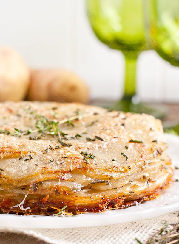 Herbed Potatoes Anna Recipe via Neighborfoodblog.com