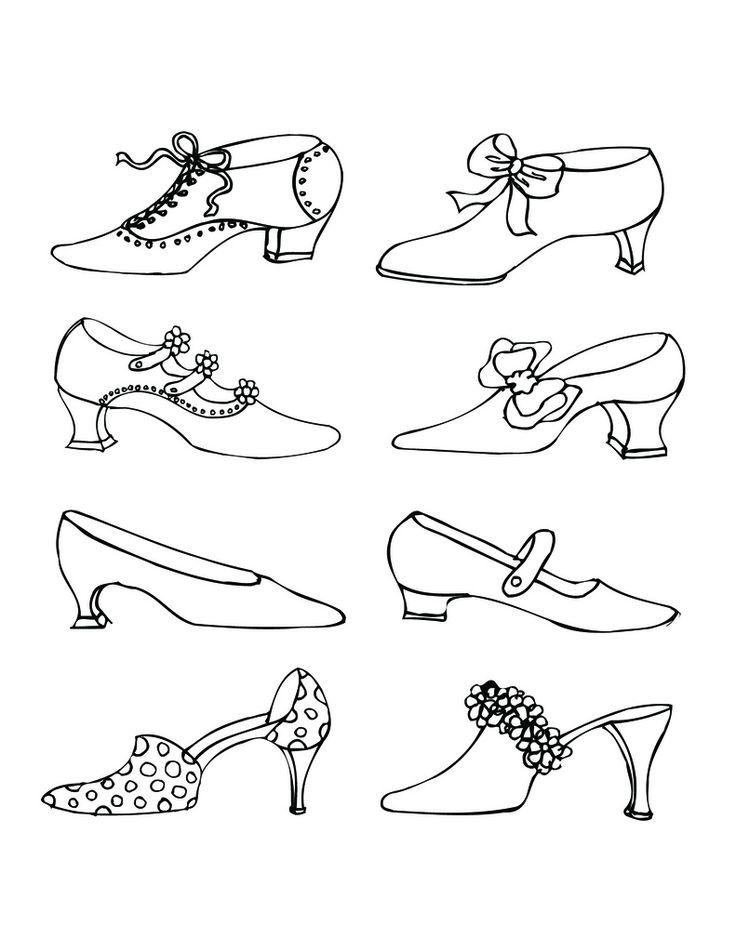 Vintage Victorian Shoes I drew in ink pen