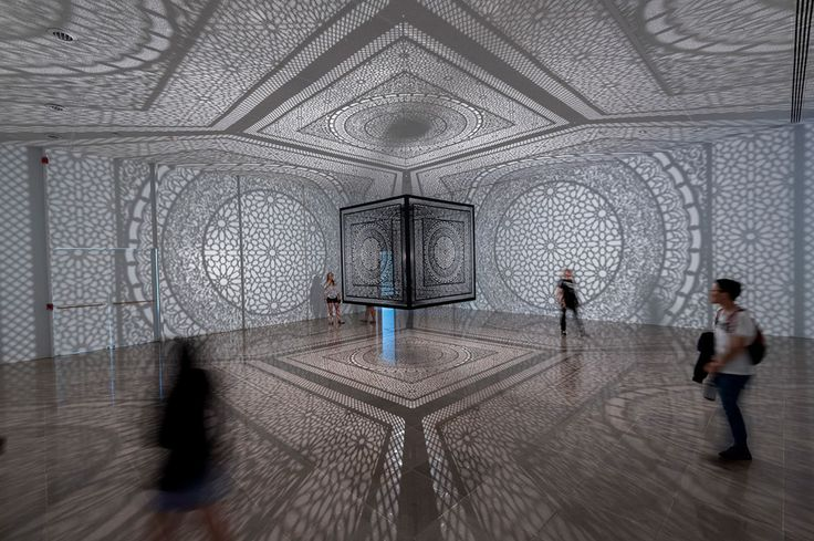 Anila Quayyum Agha's 'Intersections' Sculpture Installed at Rice Gallery