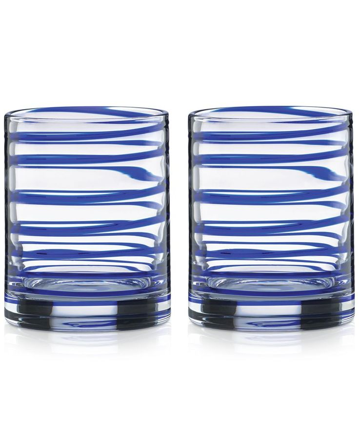 kate spade new york Charlotte Street Double Old-Fashioned Glasses, Set of 2