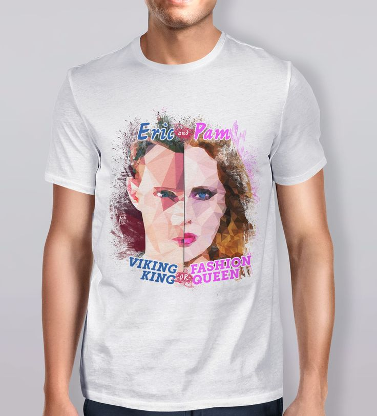 Are you a viking king, or a fashion queen? Eric and Pam, from #TrueBlood. 'Death & his petulant daughter' T-Shirt is part of the Polygraphy collection by Kevin Halfhill. Polygraphy is a collection of artwork inspired by pop culture and the human condition.