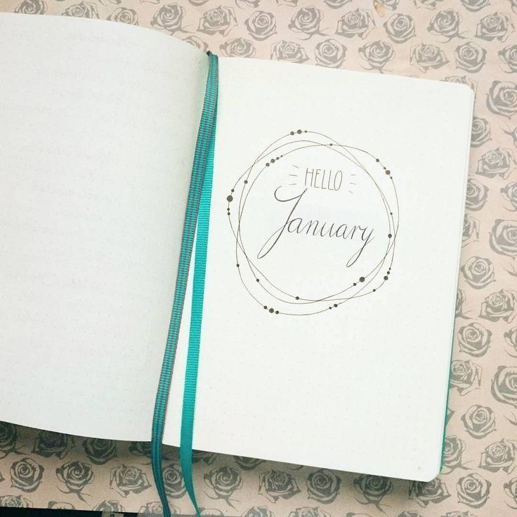 Hello January <3 #leuchtturm1917 #bujo #bujo2017 #bulletjournal #journal #january #minimalism