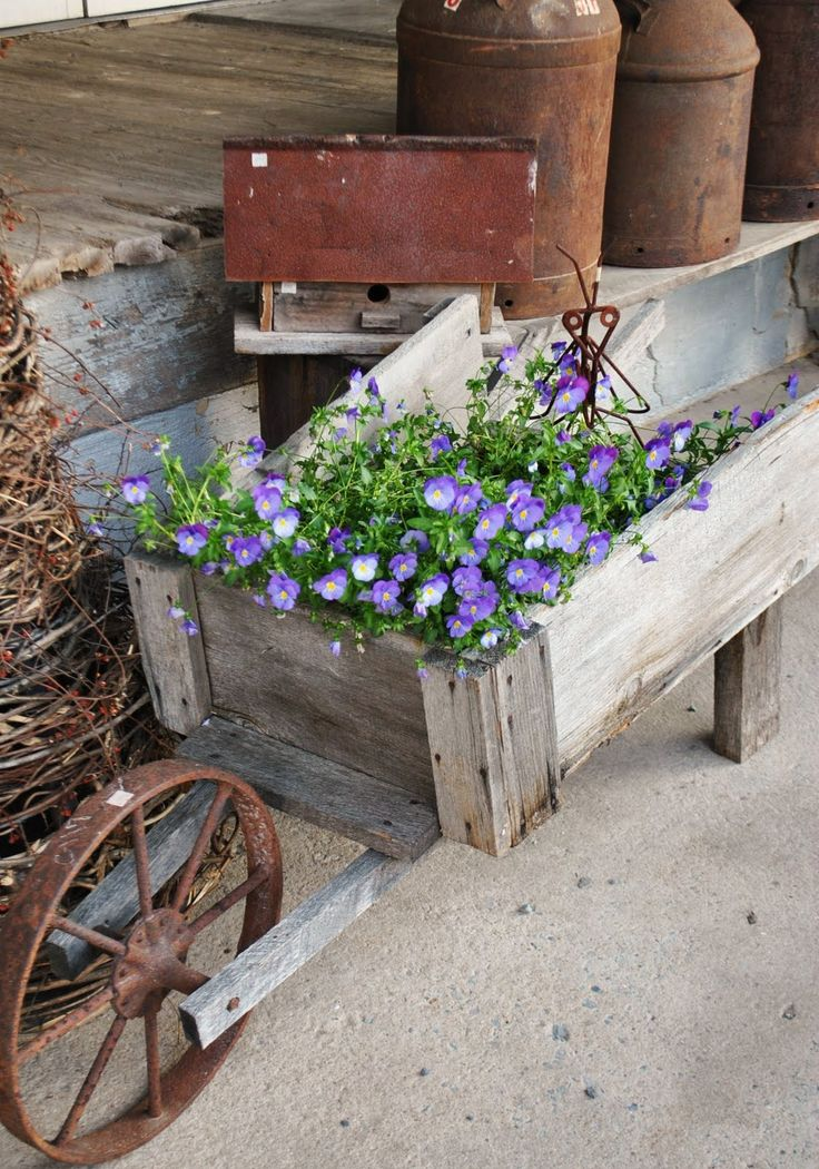 Flower Garden Ideas With Old Wheelbarrow 171 best < wheel barrows > images on pinterest | wheelbarrow