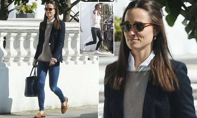 Pippa Middleton steps out in similar outfit to Kate | Daily Mail Online