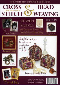 Jill Oxton's Cross Stitch & Bead Weaving issue 79 is available from Australian Needle Arts