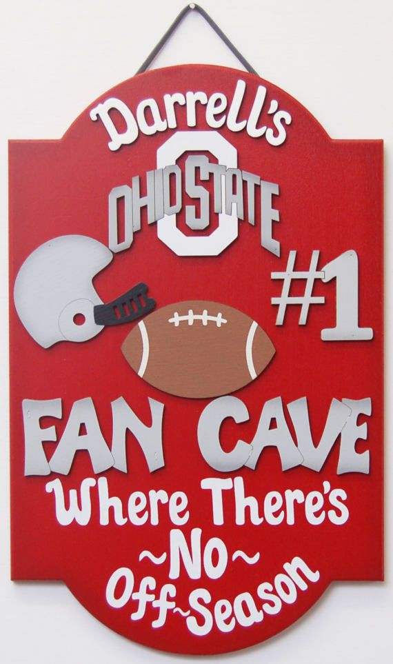 Ohio State Buckeyes Personalized Football  Sports sign  Ohio