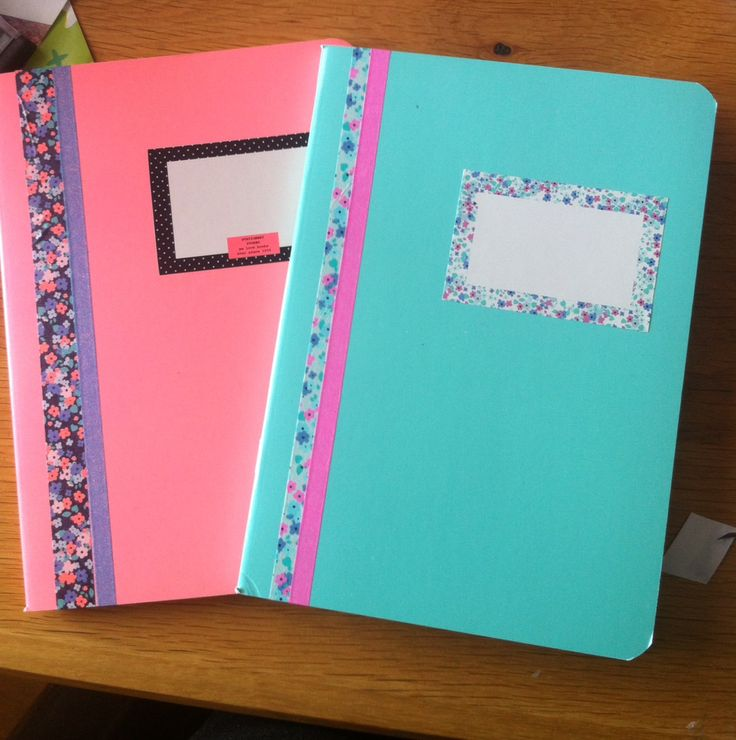 Book Cover School Supplies : Best ideas about washi tape notebook on pinterest