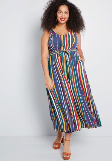 e93c445afd90 Unbridled Enthusiasm Wide-Leg Jumpsuit in 2019 | Wedding Party Attire |  Jumpsuit, Plus size jumpsuit, Blue stripes