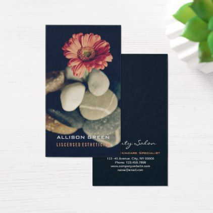 Massage Aromatherapy Salon E S T H E T I C I A N Business Card - artists unique special customize presents