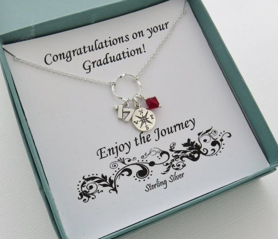 Graduation Necklace 2017 graduation gift compass by MarciaHDesigns