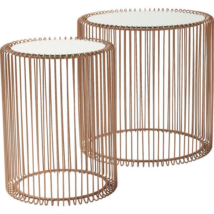 Side Table Wire Copper 2 Set