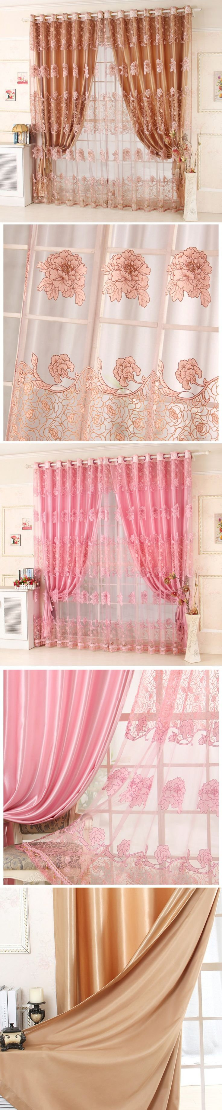 readymade modern voile tulle curtains windows luxury sheer cortinas blackout drapes for living room