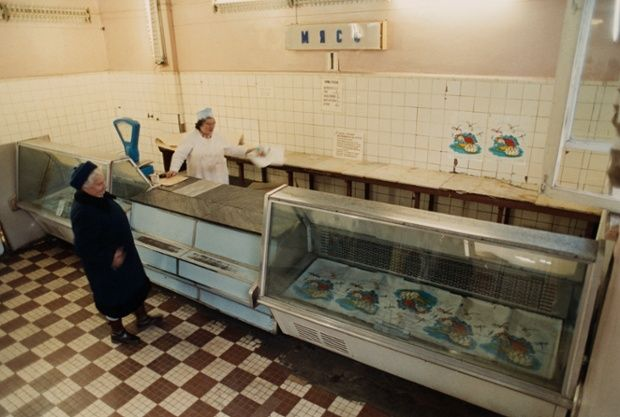 The final years of the USSR are plagued by empty grocery stores, queues for food and widespread shortages. Photograph: Gennady Galperin/Reuters