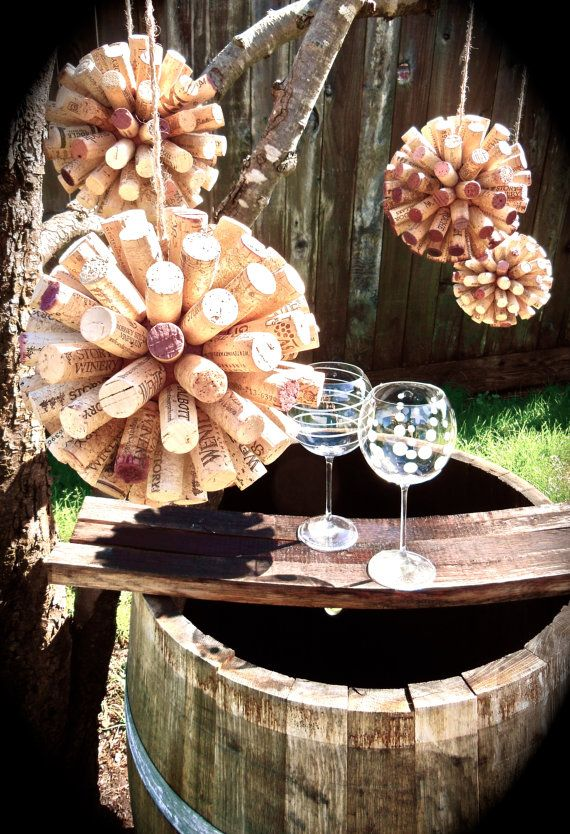 Decorative Hanging Cork Balls   Wine Decor for home by ReCorked7, $20.00