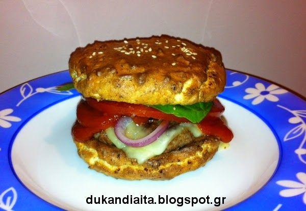 Όλα για τη δίαιτα Dukan: Ψωμάκι χάμπουργκερ
