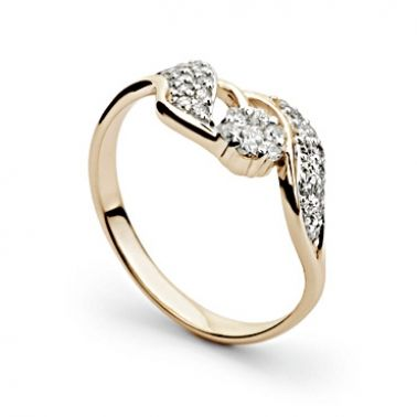 Кольцо с бриллиантами из золота 585 пробы