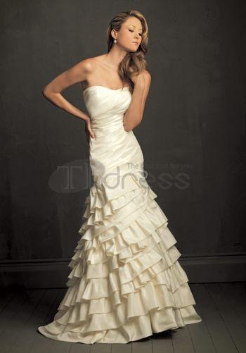Abiti da Sposa Vintage-Allegati senza spalline abiti da sposa vintage ruche