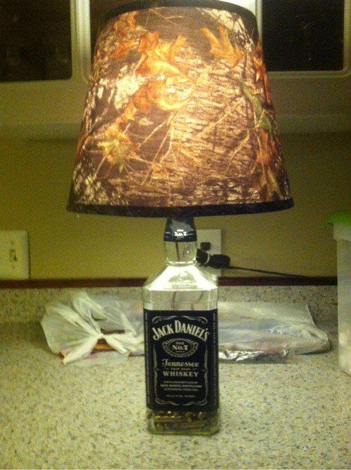 Camo Lampshade In A Jack Daniels Handle Everything About