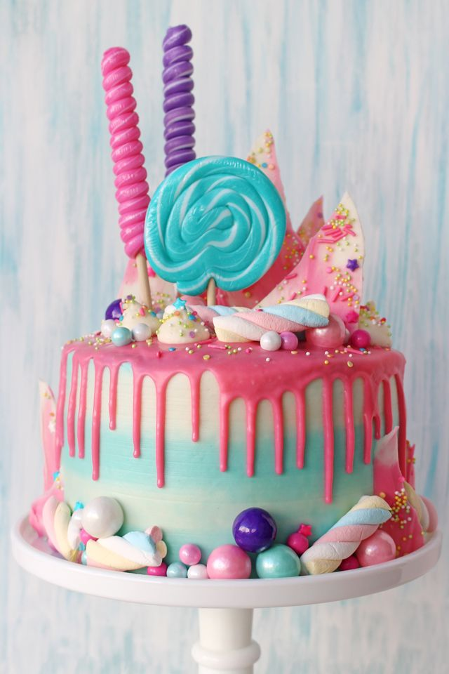 Awe Inspiring Drip Birthday Cakes With Images Candy Birthday Cakes Birthday Funny Birthday Cards Online Bapapcheapnameinfo