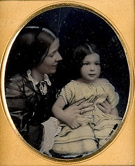 Unidentified young girl and mother (Powerhouse)