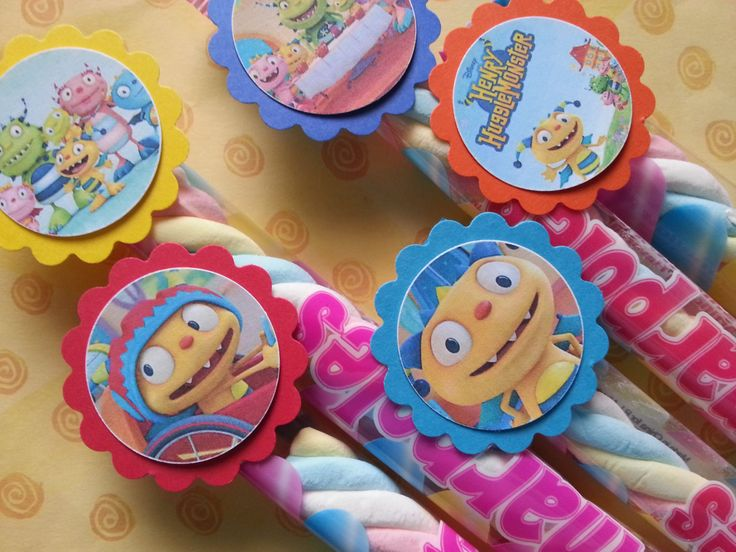 20 henry hugglemonster marshmallow party favors... by bellecaps, $17.00