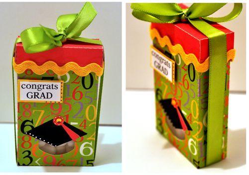 grad hat tic tac box holder graduation gift boxes