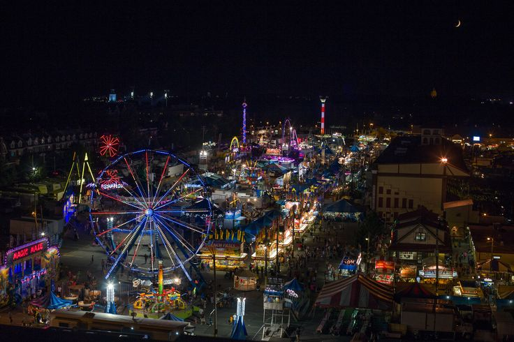 The Great Allentown Fair's midway lights up the night sky during the 2014 fair. #1infairfun #allentownfair #midway #lights #summerfun