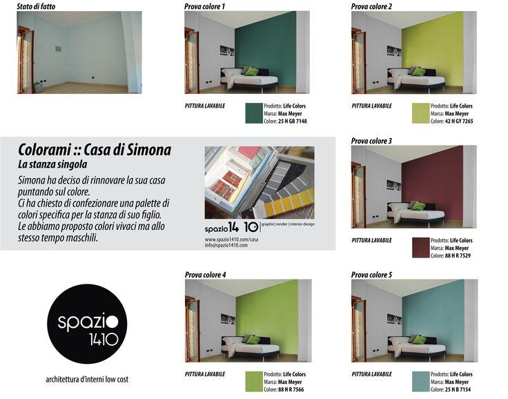 Casa di Simona :: La camera singola ---Progetto cromatico