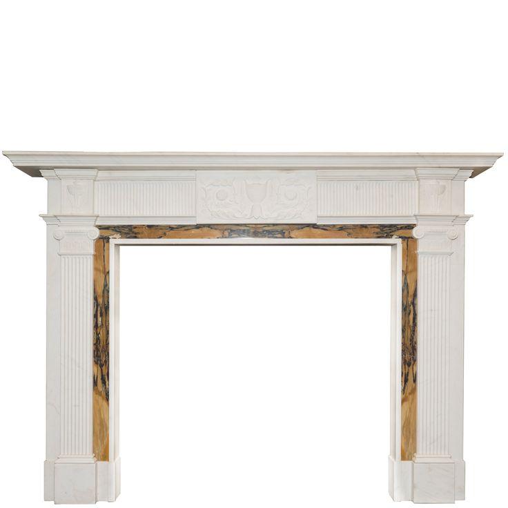 Georgian Style Statutory & Sienna Marble Fireplace Surround