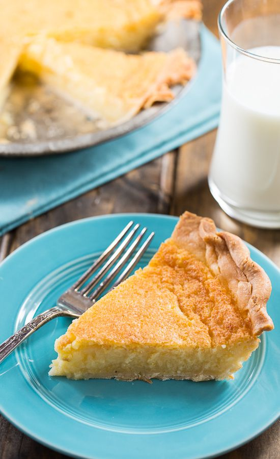 Old-Fashioned Egg Custard Pie - so easy to make and uses just a few basic ingredients!