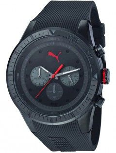 PUMA Black Rubber Puma Fast Track Men's Watch was R2,200 now R999 only at RunwaySale.co.za