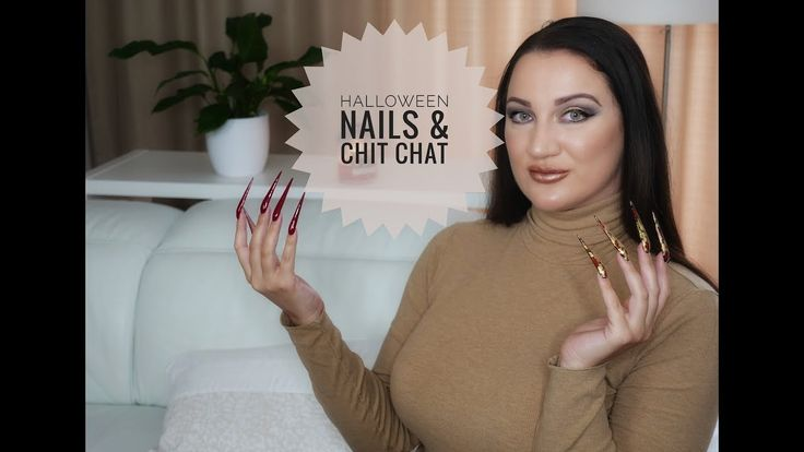 NOT MY HALLOWEEN NAILS EXTRA AF STILETTO NAILS AND NAIL TALK [almost ASMR]