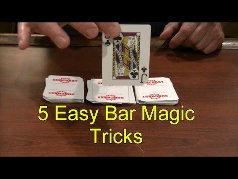 5 Easy Bar Magic Tricks Epic Cool Simple Magic Trick - YouTube