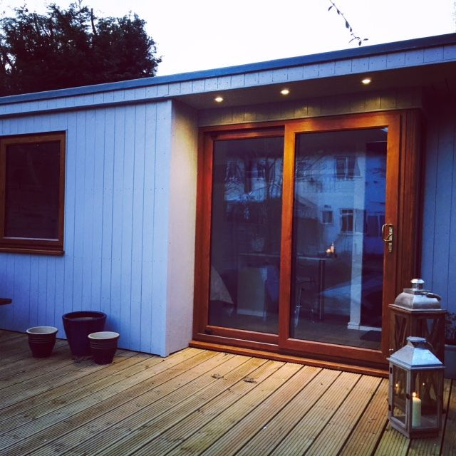 Contemporary Office From Skinners Sheds 100% Pressure Treated | Free Delivery | Free Erection www.skinners-sheds.com
