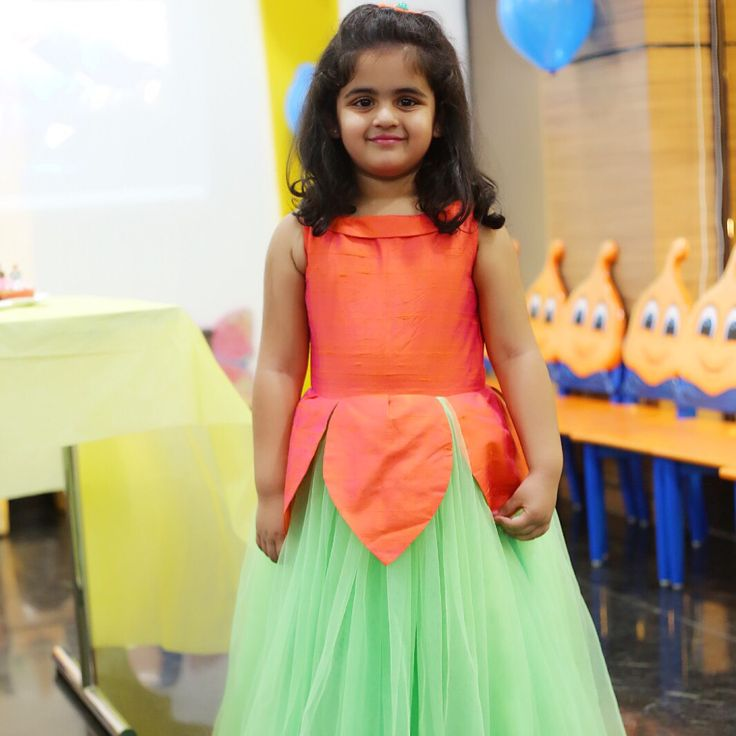 Pretty flower#kids designer dress#Ridhima reddy