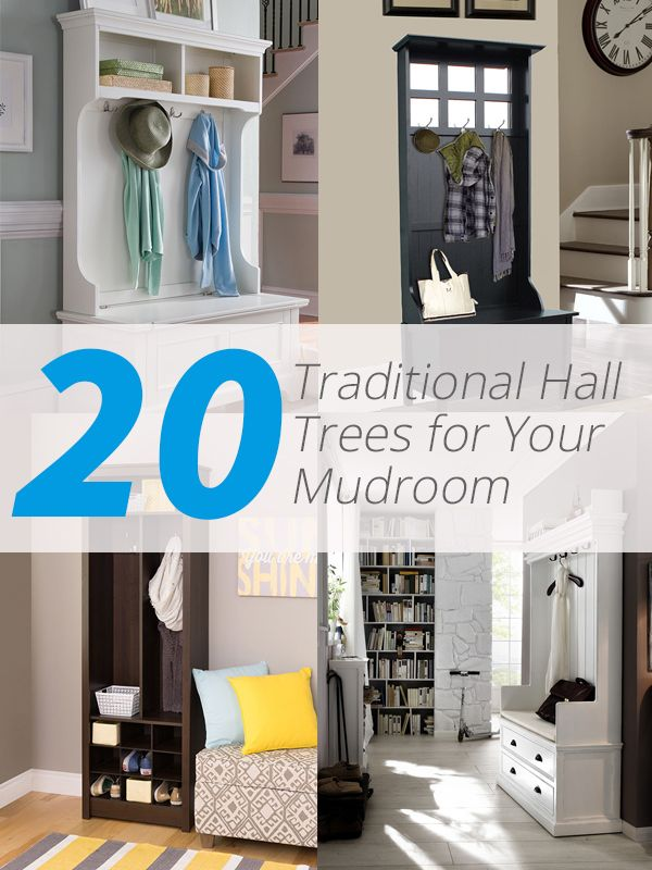 20 Convenient and Practical Traditional Hall Trees for Your Mudroom. Avoid clutter on your mudroom and organize your stuff with traditional hall trees in different designs.