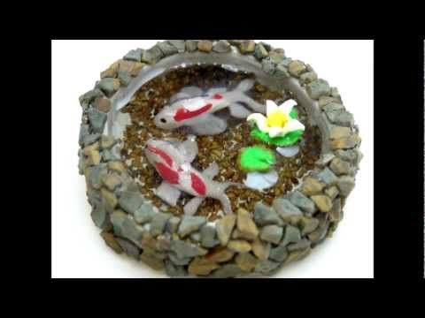 Koi Pond Waterfall Polymer Clay Tutorial / Arcilla Polimérica Wholeport Package - YouTube