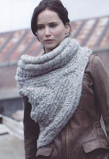 Katniss Inspired Cowl Knitting Pattern : Katniss shaw/COWL DIY That! (apparel Outerwear) Pinterest Shawl, Cowls ...