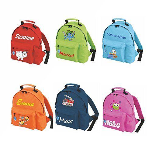 Beschriftbarer Wanderrucksack für Kids. Ein sehr schönes individuelles Geschenk für Kinder. Ein Kinderrucksack mit dem Namen des Kindes darauf.