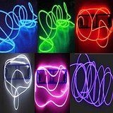 6 Pack - TDLTEK Neon Glowing Strobing Electroluminescent Wire /El Wire(Blue Green Red Pink Purple White)... christmas deals week