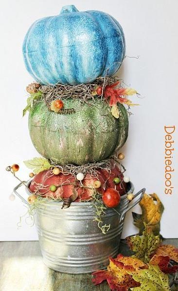 Dollar Tree Pumpkin Topiary!