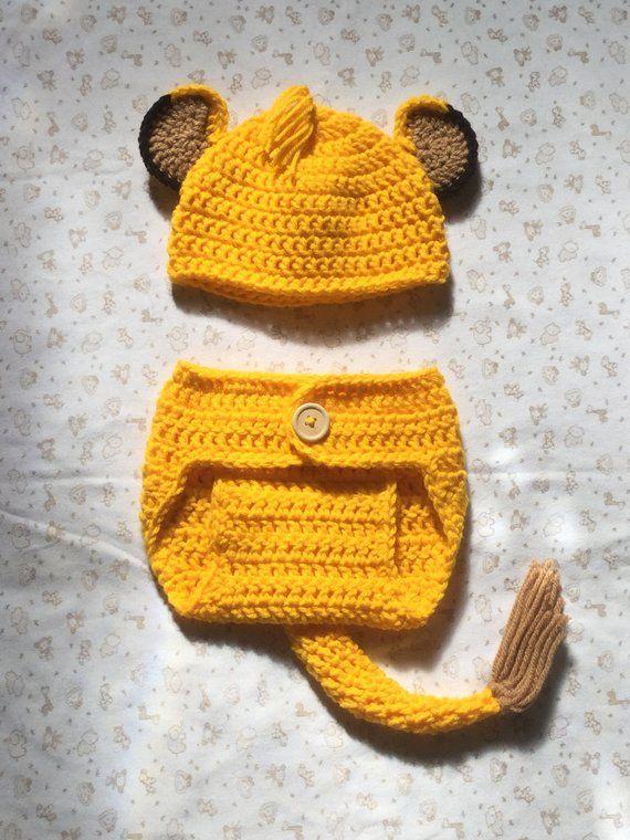 Lion Crochet Pattern Baby Lion Costume Pattern Baby Diaper ... 22aa8ff7dc1