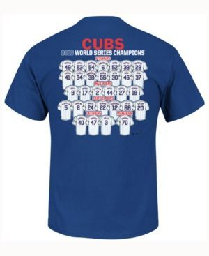 Majestic Boys' Chicago Cubs World Series Roster T-Shirt - RoyalBlue XL