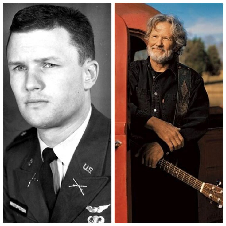Kris Kristofferson-Army-Captain-helicopter pilot, Ranger school-turned down teacher assignment at West Point (Musician)