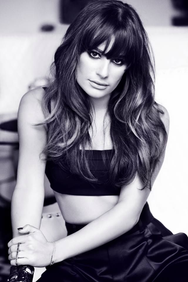 Lea Michele <3 I really want full bangs again! But takes so much time maintaining them! :(